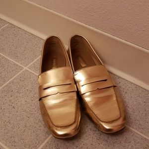 Forever 21 Gold Loafers